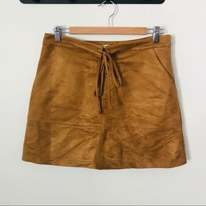 Lauren Conrad Faux Suede Skirt